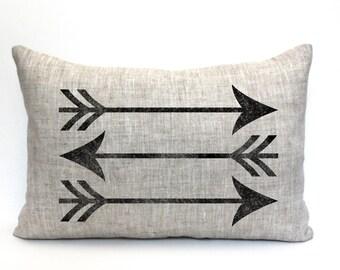 """arrow pillow, """"The Arrows"""""""