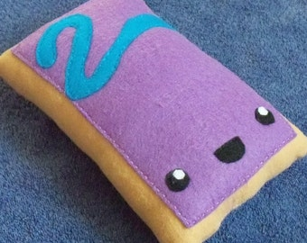 Small Breakfast Food Berry Pop Tart / Toaster Pastry Plush / Plushie