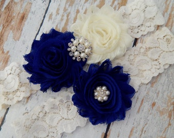 Something  Blue Chiffon Wedding Garter Set , Wedding Garter , Garter Set , Bridal Garter , Wedding Garter Se