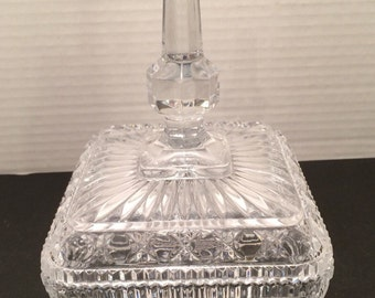 Crystal covered Candy Dish footed