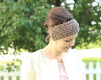 Head Warmer/Ear Warmer, Tie Ear Warmer, Women's Crochet Ear Warmer, PICK 2: Two Pack, Winter Headband, Adjustable Head Warmer, Color Choice
