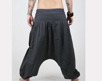 Harem Pants -  Aladdin Pants - Harem Trousers - Yoga Pants - Cotton Afghani Pants - Alibaba Pants - Hammered - Men - Woman