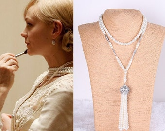 Great Gatsby necklace 1920s flapper wedding bridal accessories vintage