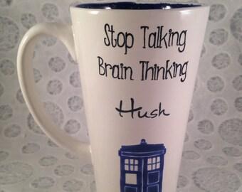 Doctor Who brain thinking mug