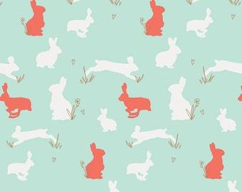 Baby Bedding Crib Bedding - Bunny Rabbit, Coral, Teal, Metallic Gold