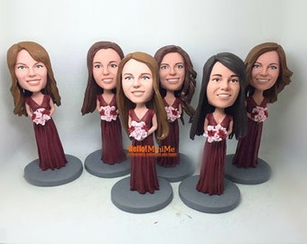 bridesmaid bobble head Maid of Honor bobbleheads wedding bobble heads bridesmaid bobblehead Bridesmaid Gift - BH G705