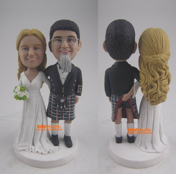 bobblehead wedding cake toppers personalized custom bobblehead wedding cake topper personalized cake 12068