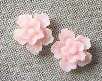 12 pcs of sakura flower cabochon-22mm-rc0166--14-baby pink