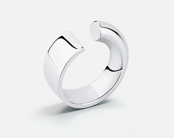 Flow ring (sterling silver)