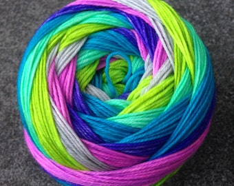 Self Striping Sock Yarn - Butterfly Nebula