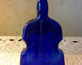 Vintage Cobalt Blue Cello Vase/Instrument