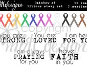 Rainbow of Ribbons Digital Stamp Set