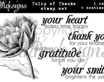 Tulip of Thanks Digital Stamp Set