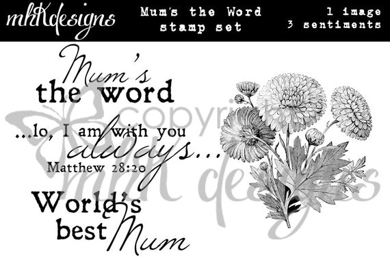 Mum's the Word Digital Stamp Set