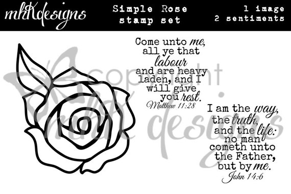 Simple Rose Digital Stamp Set