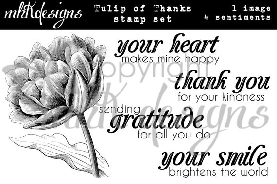 Tulip of Thanks Digital Stamp Set