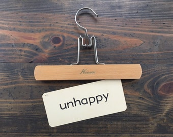 vintage flash card • unhappy | Dick and Jane | Alice and Jerry flashcard