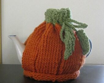 Pumpkin Hand Knit Tea Cozy