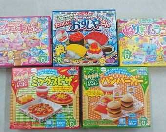 5 PCS SET Kracie, Popin Cookin, Happy Kitchen Japanese DIY candy Snacks sweets, cheap Japanese candy online, Popin cookin wholesale