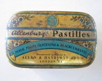 Vintage Allenbury Pastilles Tin