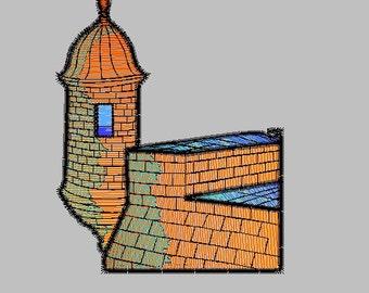 El Morro embroidery design
