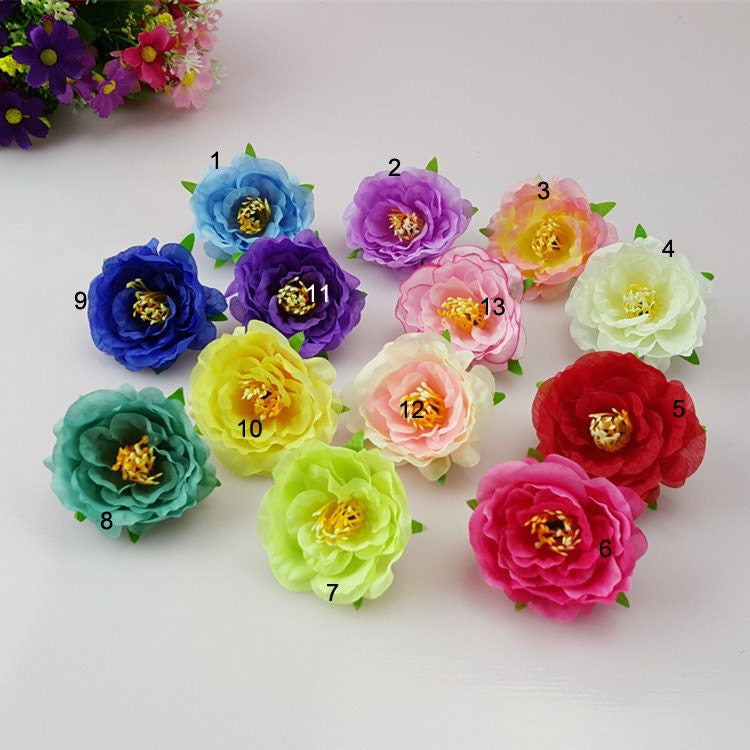 30 silk peonies heads artificial flower buds for crafts diy for Fake flowers for crafts