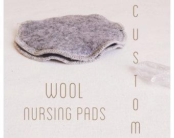 Custom Wool Nursing Pads -- Re-purposed Wool Breast Pads -- All Wool Nursing Pads