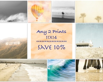 Any 2 11x14 Prints, DISCOUNT SET, Save 10% on Two 11x14 Photographs of Your Choice