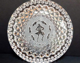 Vintage Waterford Crystal Christmas Plate, 1993, Ten Lords a Leaping, 12 Days of Christmas