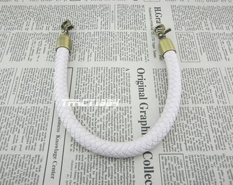 16 inch White Color Synthetic Leather Bag Handle