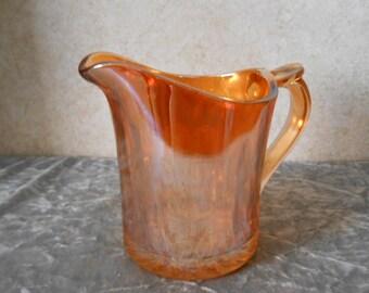 1940's Carnival Glass Iridescent Creamer