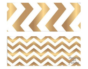 Gold Chevron Washi Tape Set - 2 Rolls - Planner Washi Tape - Scrapbooking Embellishment - Gift Wrapping - American Crafts - 511391