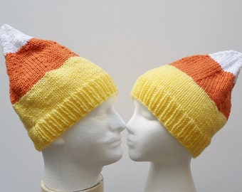 Knit / Candy Corn Hat (Please read carefully for AVAILABILITY)
