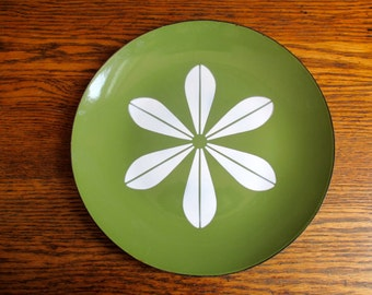 Vintage Cathrineholm Green Lotus Plate