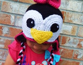 Crocheted Penguin Hat