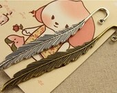 10pcs Alloy Big Feather Bookmark Finding jewelry making diy accessories Finding