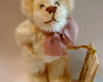 Miniature Tan Teddy Bear