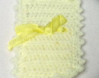 Dollhouse Miniature Hand Crocheted Baby Blanket