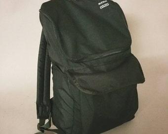 All black cordura bigmouth backpack handmade in Canada