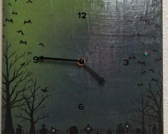 Halloween Bats Clock