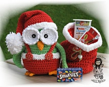 Crochet PATTERN, Collectors item 04 Christmas Owl, Toy, Crochet amigurumi pattern, Home Decor, Christmas, DIY Pattern 33