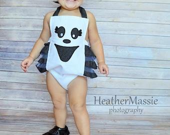 Infant/ Toddler Halloween Ghost Romper