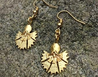 22k gold plated Tulip flower earrings
