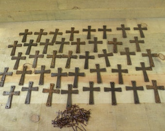 Metal cross cut outs,   rustic steel cross free shipping
