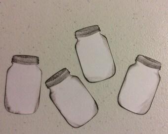 25 Colored Mason Jar Gift Tags or Labels, Glass Jar, Ball Jar, Canning Jar