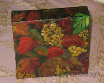 The Fall Leaves Original Painting ~ shipping included