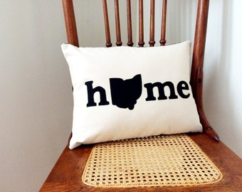 Ohio Home Pillow - I Heart Ohio Pillow Cover - Ohio Home Pillow Cover