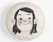 Happy Sad Circle Cushion Cover