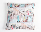 Dolls House Square Cushion Cover