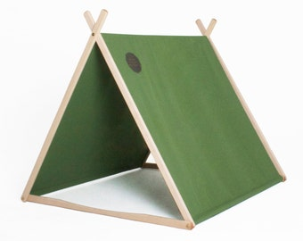 Forest Green Wonder Tent + Clothes Rack Conversion - Mid Year Sale